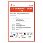 """19 Апреля наша команда приняла участие в презентационной сессии """"TTD: Technologies for life 2018"""" с проектом перчатка Брайля....."""
