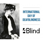 On 27 June, in the day the birth of the famous Helen Keller the International Day of the Deafblindness is celebrated all over the world..